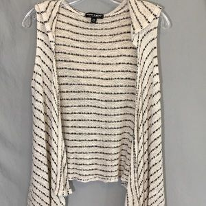 Sleeveless Hooded Cardigan Size XS High Low Hem